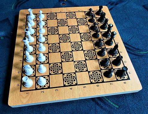 Шахматы-нарды-шашки 3 в 1 из дерева, фото 2