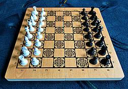 Шахматы-нарды-шашки 3 в 1 из дерева, фото 3