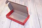 Коробка картонна 185 х 110 х 37 мм, самозбірна (червона), фото 3