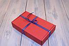 Коробка картонна 185 х 110 х 37 мм, самозбірна (червона), фото 2