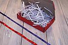 Коробка картонна 185 х 110 х 37 мм, самозбірна (червона), фото 4