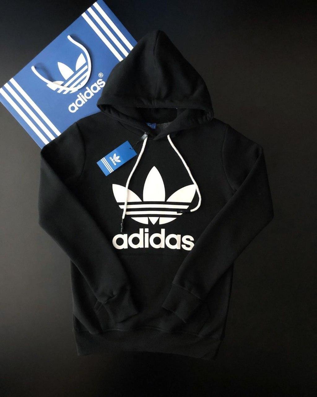 😜 Свитшот - Мужская худи черная Adidas
