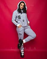Женский костюм большого размера Likara / трикотаж на меху / Украина 32-912, фото 1