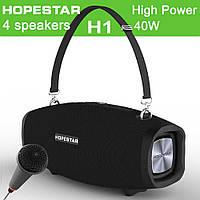 Колонки | Беспроводная колонка | Портативная колонка с Bluetooth Hopestar X/H1 (микрофон + блок питания 15V3A)