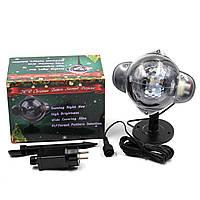 Светодиодный лазерный проектор LASER 808 Уличный, новогодний диско лазер, фото 1