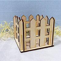 Заборчик декоративный 12х12см, неокрашеный