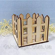 Заборчик декоративный 12х12х8см, неокрашеный