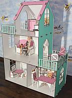 Кукольный домик. Домик для куклы Барби. Большой особняк барби.