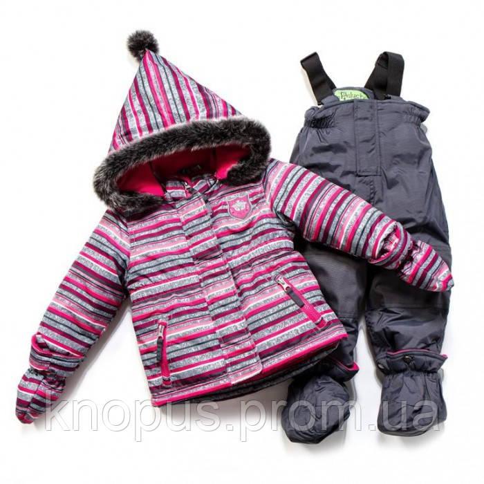 Зимний термокомплект для девочки Coraline / Smokey Grey, F17 M 14 BF, Peluche&Turtine