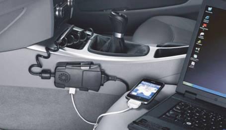 Автомобильный инвертор 12 220 с USB RING REINV120, фото 2