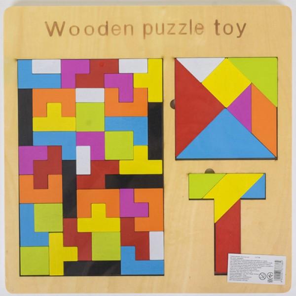Деревянная игра Логика, головоломка, танграм, тетрис 37736 2181