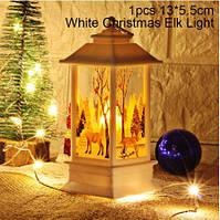 Фонарик декоративный Рождественский Олень Белый, фото 1