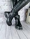 Женские зимние черные ботинки, из натуральной кожи, фото 2