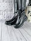 Женские зимние черные ботинки, из натуральной кожи, фото 3