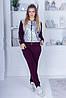 Зимовий спортивний костюм з начосом жіночий: штани і кофта з сріблястою плащевкой, батал великі розміри, фото 8