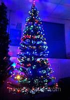 Елка светящаяся светодиодная оптоволоконная Звезда 210 см, 7 режимов vip210