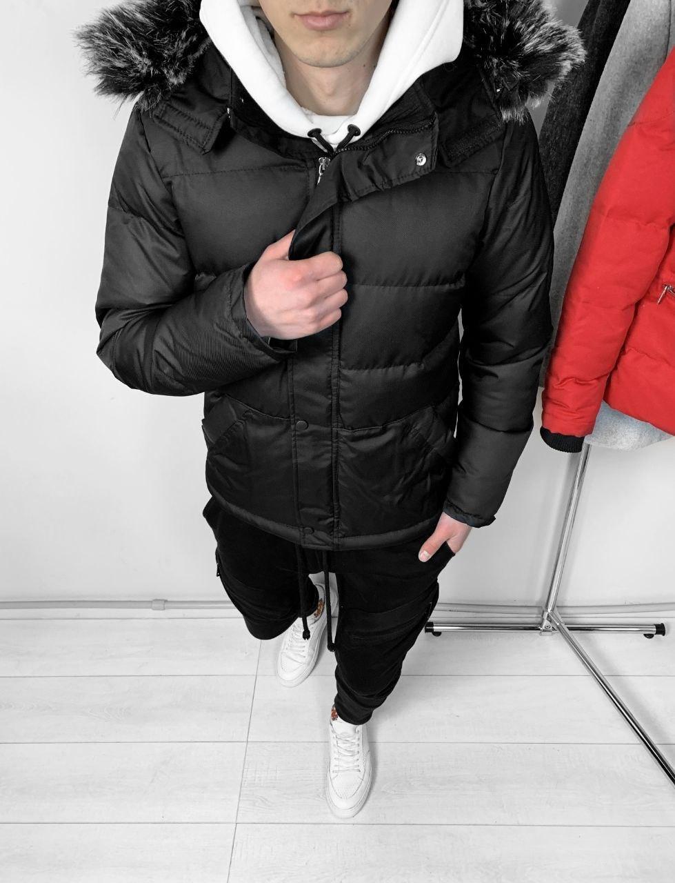 😜 Парка - Мужская водостойкая куртка черная