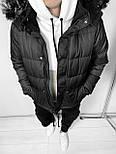 😜 Парка - Мужская водостойкая куртка черная, фото 3