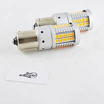 LED лампа в поворот PY21W(1156)(BAU15S) SL48-3030 led Янтарный с обманкой, фото 2