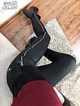 Черные женские лосины на меху с молнией сбоку 5212404, фото 3