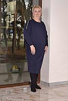 Трикотажное платье балахон в больших размерах с рукавом летучая мышь 1015446, фото 1