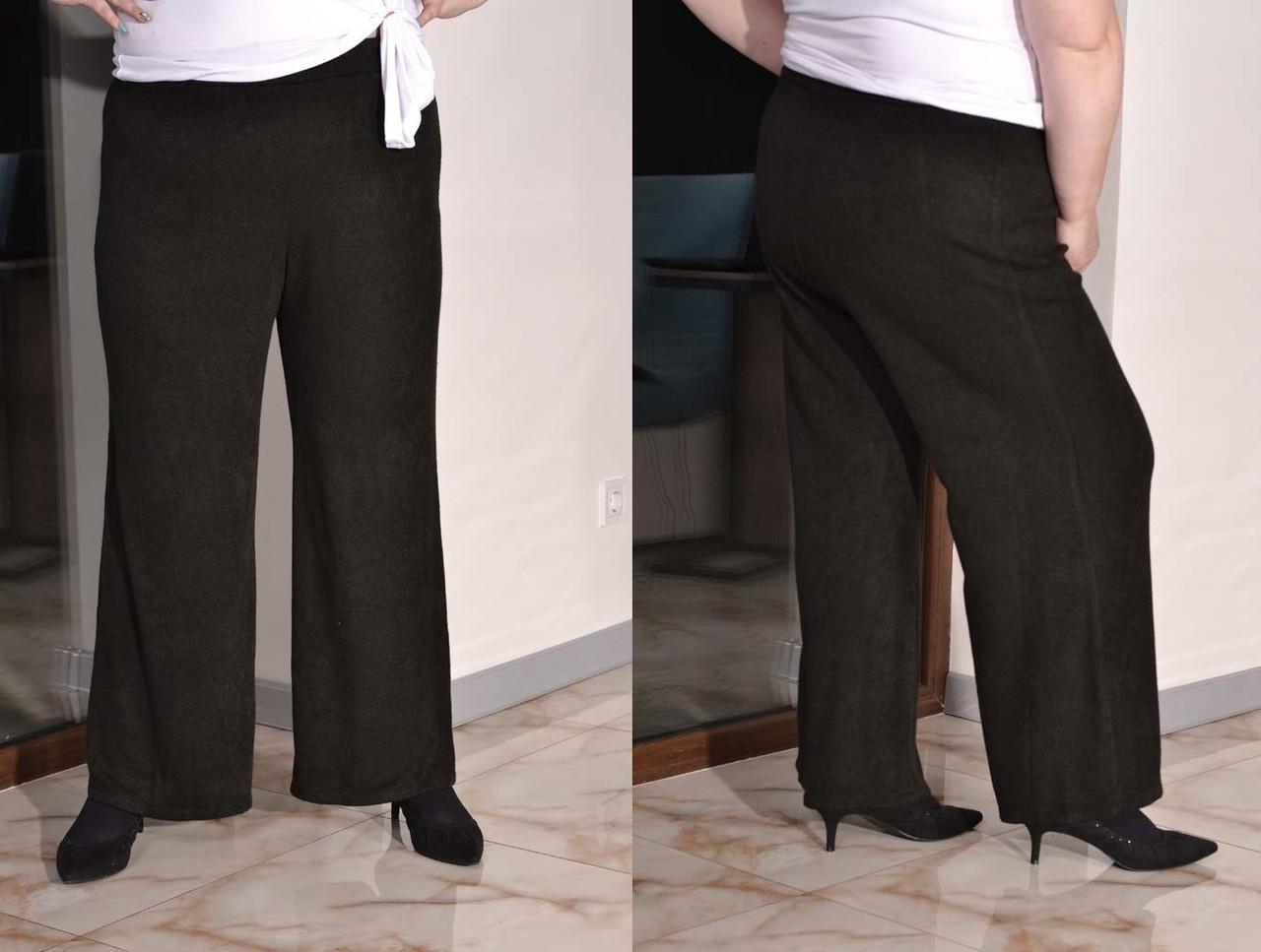 Ангоровые женские брюки клеш в больших размерах 1015448