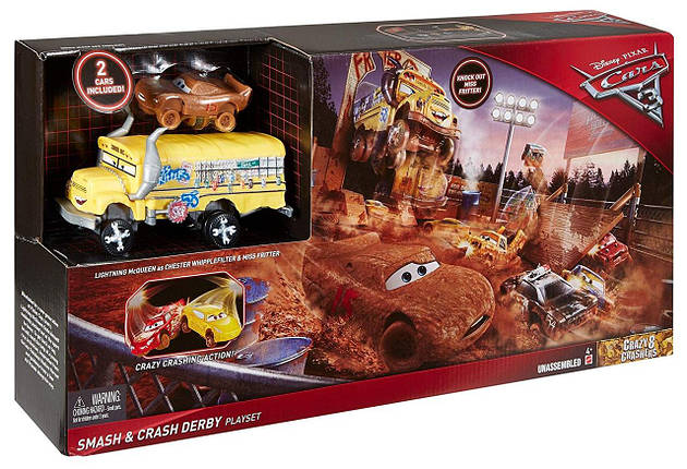Disney Pixar Cars 3 Crazy 8 Скажена вісімка Вогняна пастка, фото 2