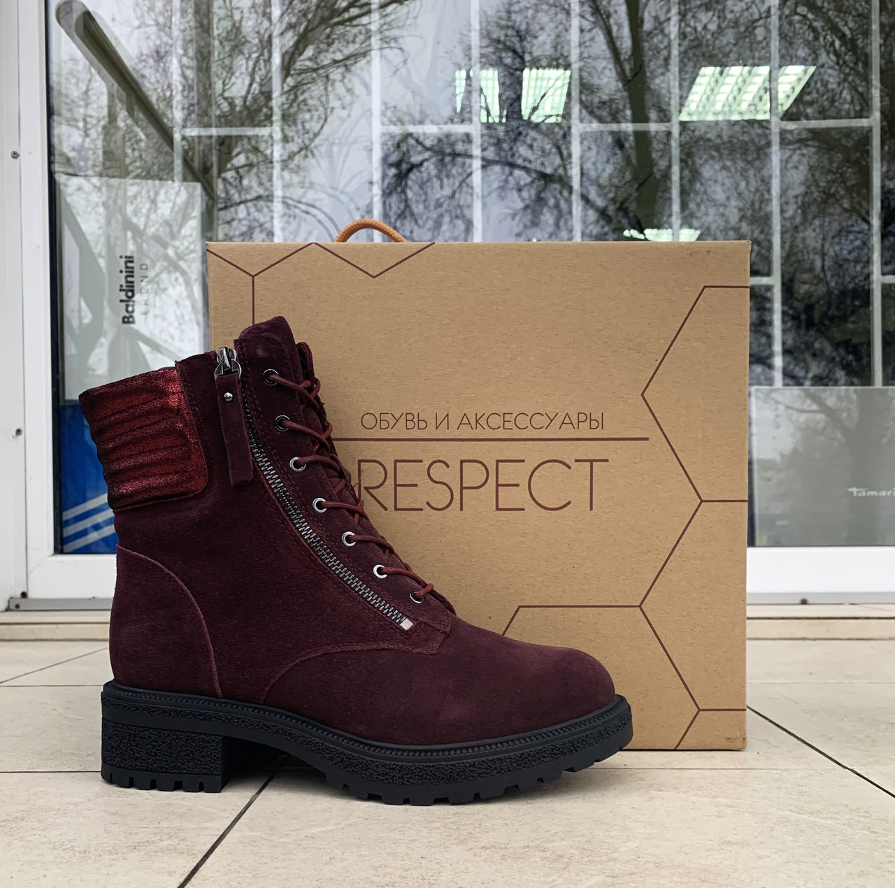 Женские зимние ботинки Respect оригинал натуральная замша шерсть 39