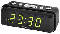 Часы настольные электронные сетевые VST 738-2 зеленые