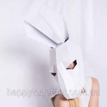 3D маска из картона Кролик