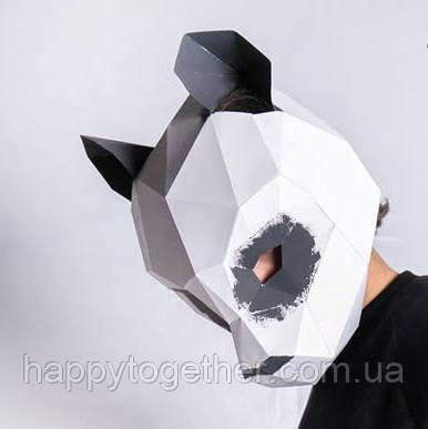 3D маска из картона Панда