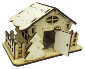 Домик №15 из фанеры 15 х 9 х 9 см. с открывающимися дверями