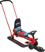 Снегокат 2 в 1 «Тимка спорт 6» (ТС6 hockey) с выдвижными колесами и рулеткой, разные цвета, Nika Kids.