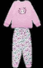"""Дитяча піжама для дівчинки PGD-19-11 """"Котик"""" (Колір: Білий, Розміри - 104, 110) ТМ ГАББІ"""