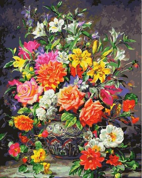 Картина по номерам 40х50см Mariposa Turbo Сентябрьские цветы