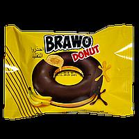 Кекс Brawo Donut з бананової начинкою какао-молочної глазурі 50г 1ящ/24шт