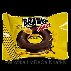 Кекс Brawo Donut с банановой начинкой в какао-молочной глазури 50г 1ящ/24шт
