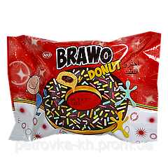 Кекс Brawo Donut с шоколадным кремом и цветными гранулами 50г 1ящ/24шт