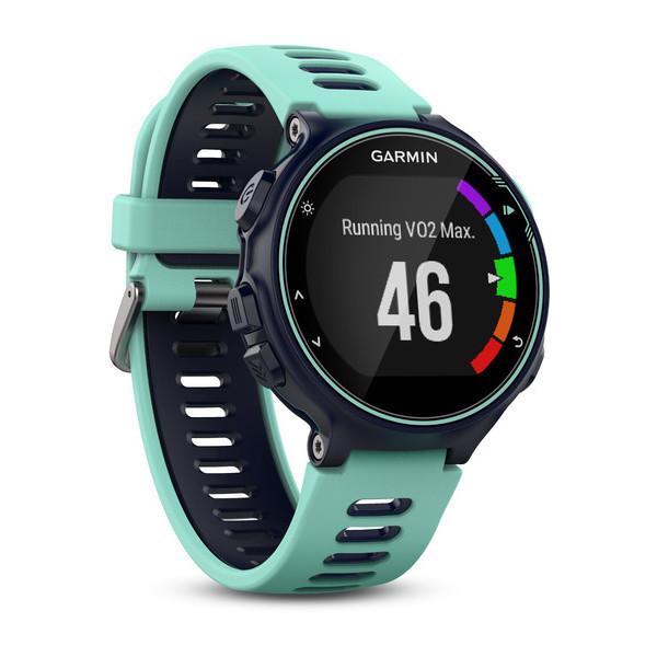 Смарт-годинник Garmin Forerunner 735XT Midnight Blue/Frost Blue Watch Only Бірюзовий/ Зелений