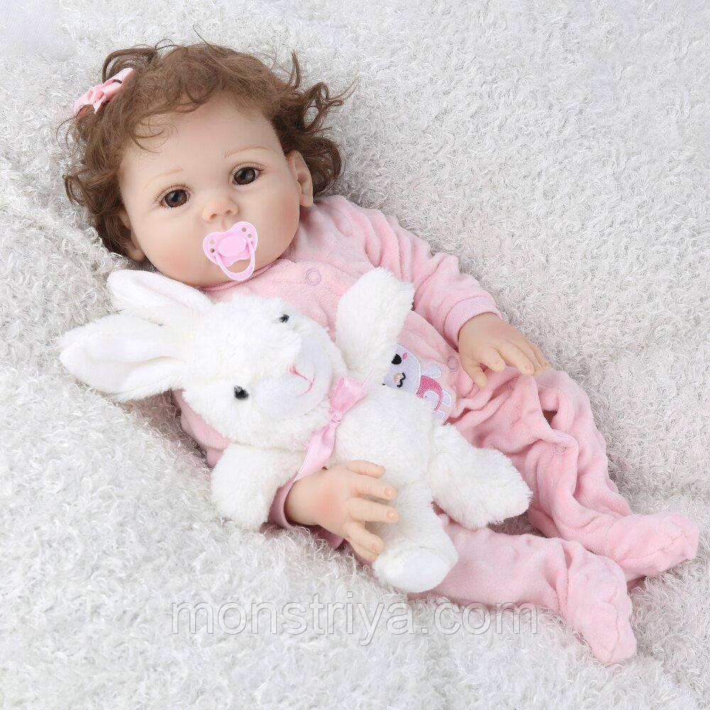 Лялька реборн Дівчинка повністю вініл-силіконова