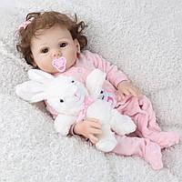 Лялька реборн Дівчинка повністю вініл-силіконова, фото 1