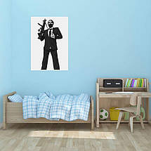 "Постер ""Мэрлин Мэнсон с автоматом"". Marilyn Manson. Размер 60x43см (A2). Глянцевая бумага, фото 3"