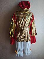 Карнавальний костюм Принц,паж червоний оксамит, фото 1