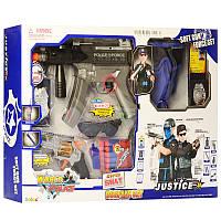 Набор полицейского 34500, каска, жилет, автомат 36см, пистолет, маска, наушники, звук, свет