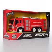 Машина AS-2180 АвтоСвіт,инер-я, пожарная, 1:16, 29см, звук, свет