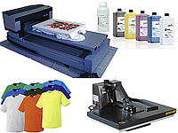 Комплект оборудования для прямой печати на цветных тканях. Текстильный принтер.