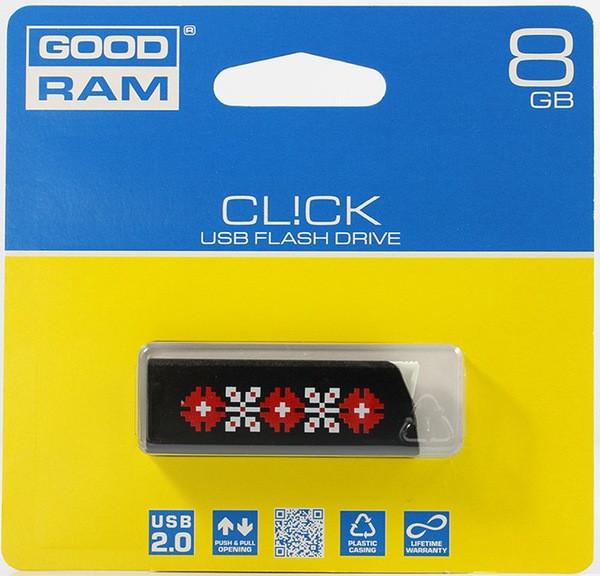 Flash Drive GOODRAM CL! CK 8 GB Ukraine, Black