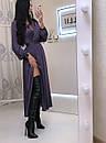 Шелковое платье макси с верхом на запах и длинным рукавом фонариком 20py511, фото 2