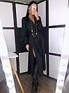 Шелковое платье макси с верхом на запах и длинным рукавом фонариком 20py511, фото 5