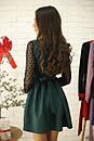 Платье с расклешенной юбкой и рукавом из сетки в горошек 52py534, фото 6